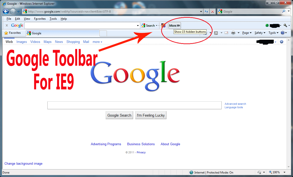 Google Toolbar For IE9