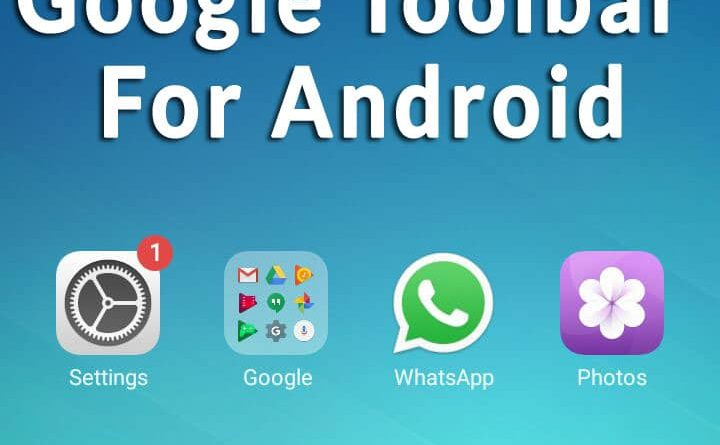 Download Google Toolbar / Search Bar for Android Mobile.