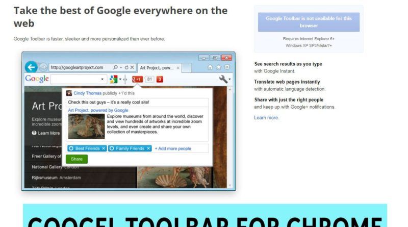 Download Google Toolbar for Chrome