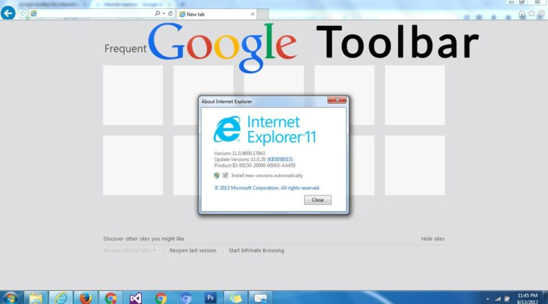 Download Google Toolbar for Internet Explorer or IE